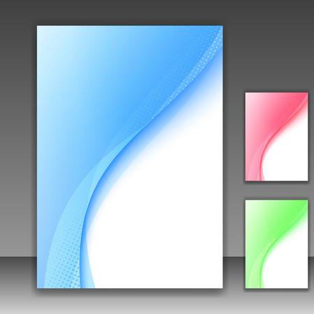 swoosh: Blue modern folder template - swoosh background. Vector illustration Illustration