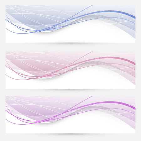 Modern abstract banners or web headers. Vector illustration Vector