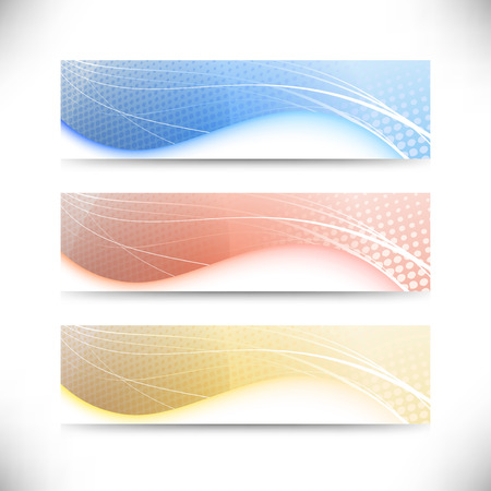 Modern web banner templates collection. Vector illustration Vector