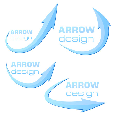 naming: Arrow design template - blue - ready to use. Vector illustration Illustration