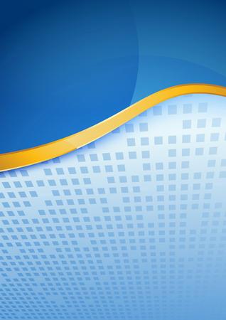 Modern blue folder golden border  Vector illustration Vector