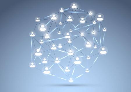 interconnection: Social network concept background. Vector illustration