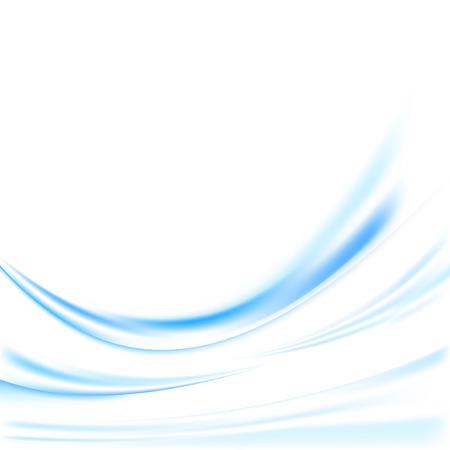 lines background: Futuristic blue swoosh lines background. Vector illustration