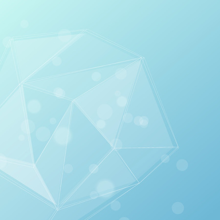 coldness: Blue crystal structure editable background. Vector illustration Illustration