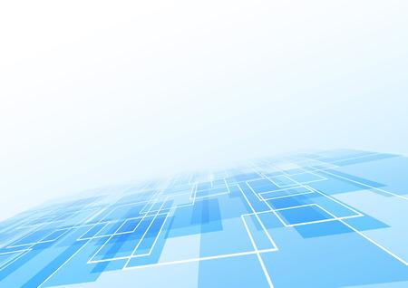 lie: Blue tile lie perspective background. Vector illustration