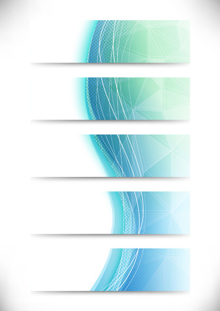 air flow: Crystal structure bright cards collection. Vector illustration
