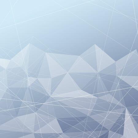 Crystal structured modern blue background. Vector illustration
