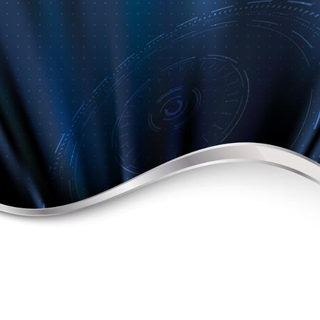 Modern technology dark shine background. Vector illustration Vector
