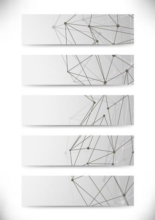 vector  molecular: Molecular structure business cards collection. Vector illustration