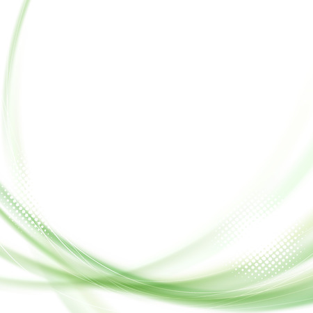 Satin green swoosh line background. Vector illustration Vector