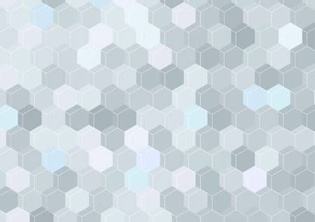 Geometrical hexagon structure background template. Vector illustration Vector