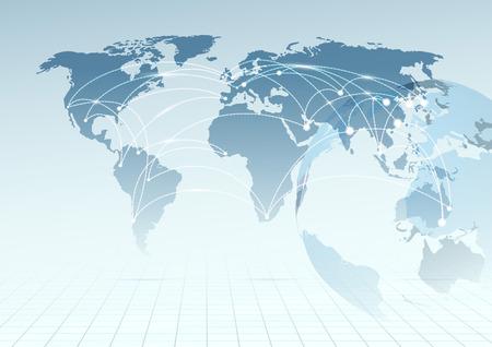 net trade: Global communicational channels background.