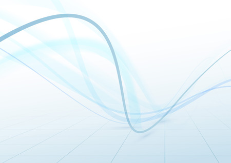 swoosh: Blue swoosh transparent cable airy waves make rapid speed connection lines perspective abstract background.  Illustration