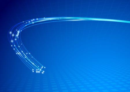 fibra: Cavo impulso astratto modello.