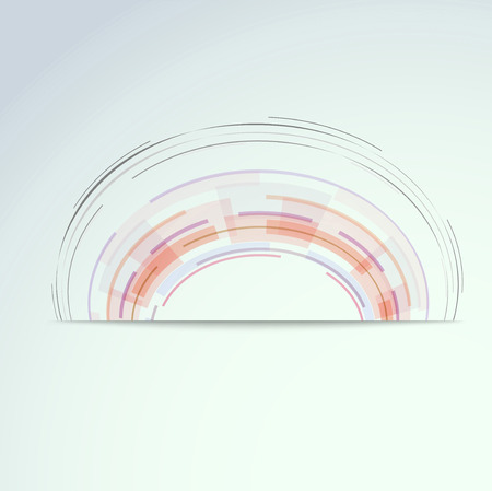 Circular concentric design element. Vector