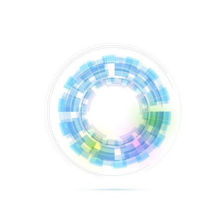 modernistic: Technology ring transparent modernistic.  Illustration