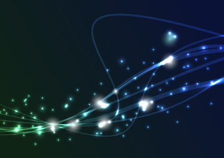 Transparent swoosh bright spark wave.