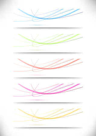 Abstract swoosh lines namecards collection for business. Vector illustration Vector