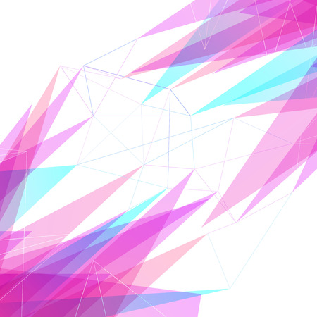Abstract many lines and triangles bright mesh concept hi-tech folder background. Vector illustration Vector
