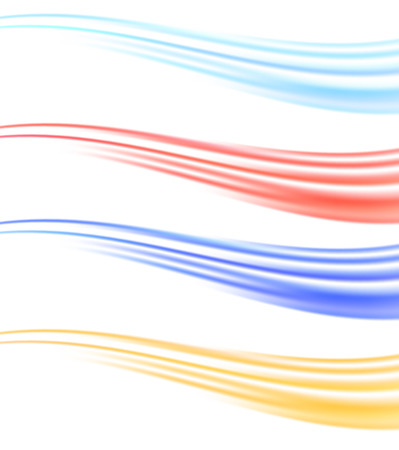 wave vector: Many colorful abstract swoosh liquid lines wave dividers collection. Vector illustration Illustration