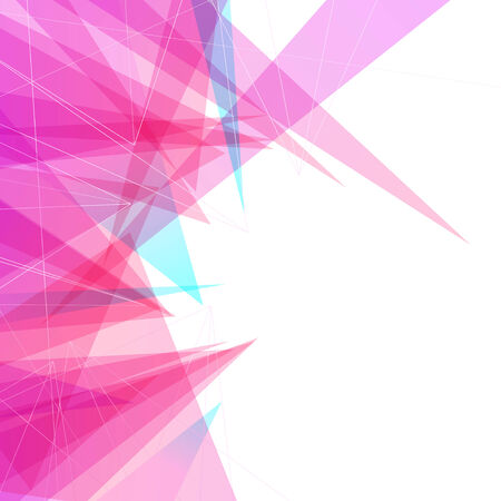 Modern abstract futuristic bright colorful triangular mesh border folder background. Vector illustration Vector