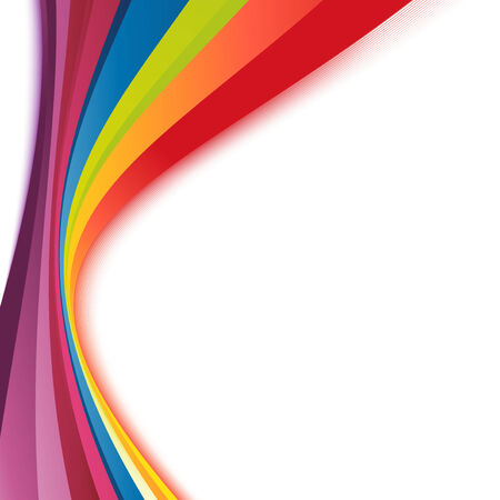 Bright rainbow swoosh lines stripes abstract. Vector illustration Vector