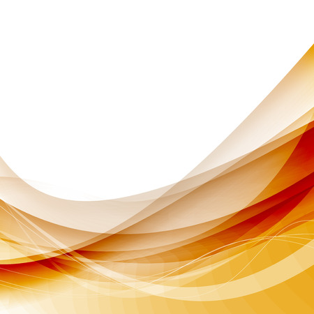 Abstract wave lines swoosh red solar background. Vector illustration Vector