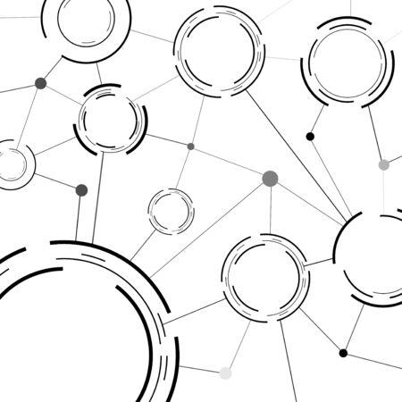 modeling: Modern communicational background template. Vector illustration Illustration