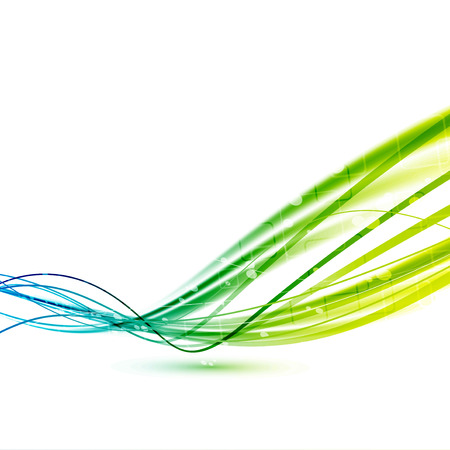 divide: Bright green abstract speed lines background. Vector illustration