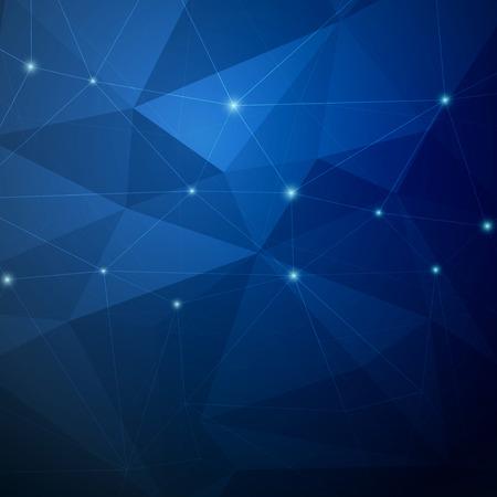 azul: Estructura cristalina fondo brillante modernista oscura. Ilustración vectorial