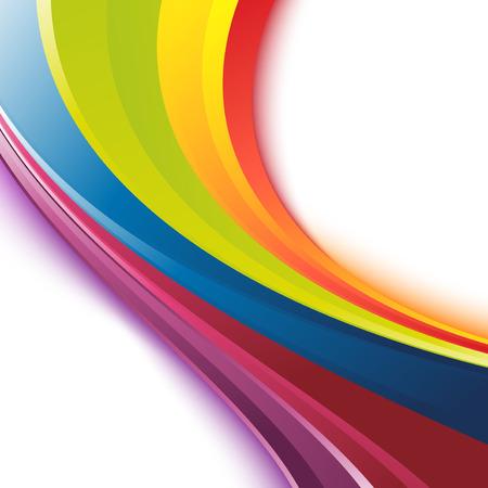 明るい滑らかな虹カラフルなお祭りイベント スウッシュ波テンプレート