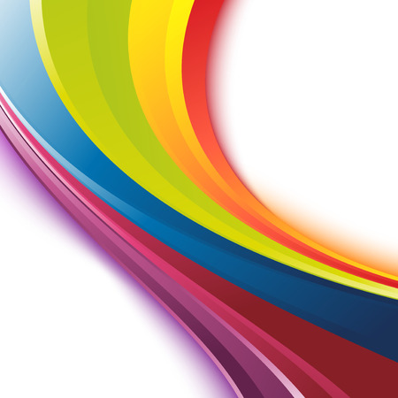 Bright smooth rainbow colorful festive events swoosh waves template Vector