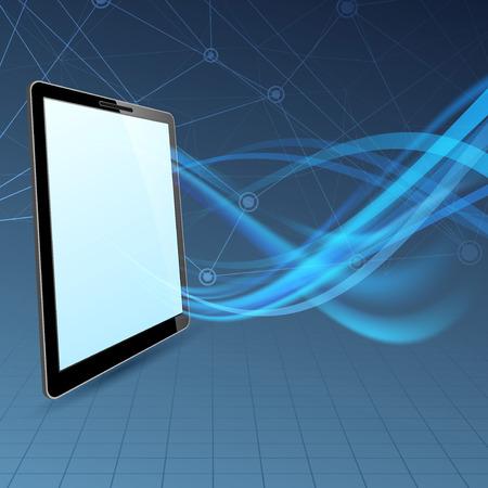 mobile computing: Communication run through tablet device