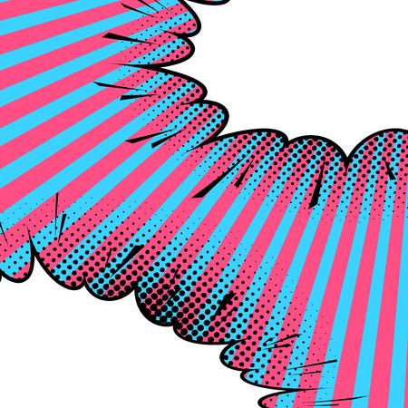 tiras comicas: Arte blanco c�mico abstracto con las burbujas del discurso. Ilustraci�n vectorial