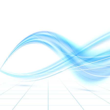 blue waves vector: Bright blue abstract swoosh waves. Vector illustration