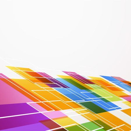 Bright colorful abstract tile background. Vector illustration Vector