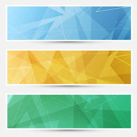 structured: Collection of shiny crystal structured cards with lines. Vector illustration