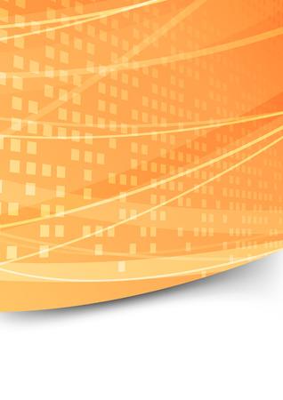 quadrati astratti: Piazza astratto modello di cartella di arancio. Illustrazione vettoriale