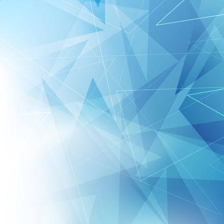 triangular shape: Triangular blue geometrical background. Vector illustration
