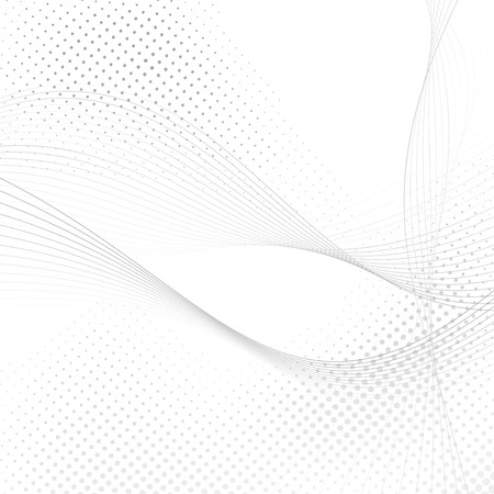 Abstract halftone swoosh lines background Vector