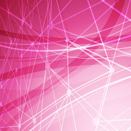 a pink cell: Abstract molecule structure bright background