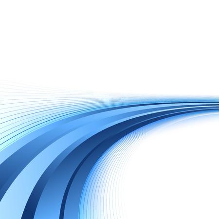 Brilhante linhas azuis certificado de fundo Ilustração