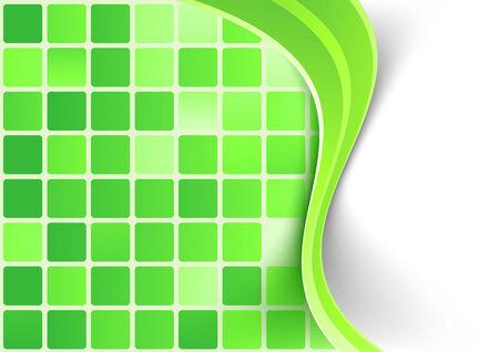 digital art: Bright green tile background template. Vector illustration Illustration