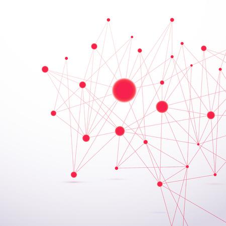 Estructura de conexión de alta tecnología molecular Roja.