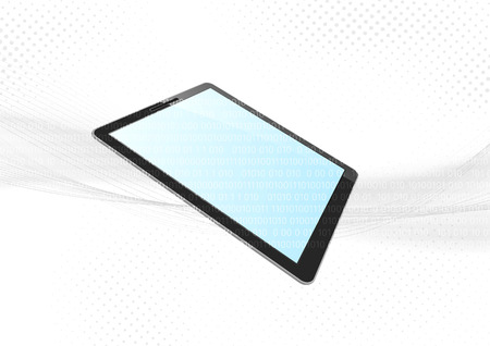 electronic background: Modern tablet device electronic background.  Illustration