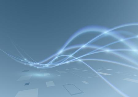 optic fiber: Modern abstract swoosh glittering wave background.