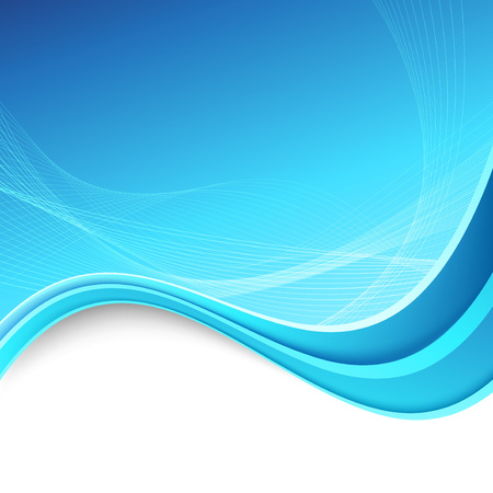Abstract swoosh border lines blue background Vector