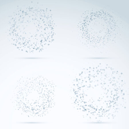 particles: Drop design elements - transparent particles. Vector illustration Illustration