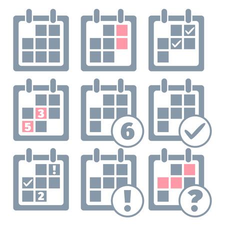 Calendar infographics set design templates. Vector illustration Vector