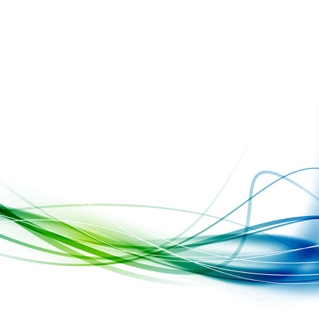 Green blue swoosh abstract lines background. Vector illustration